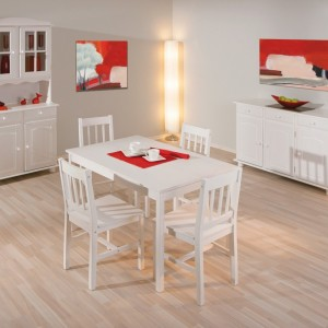 Ensemble Table Et Chaise De Cuisine Blanc