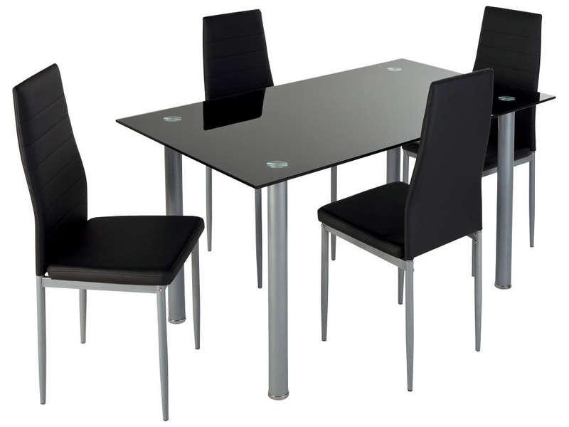 Ensemble Table Et Chaise De Cuisine Noir