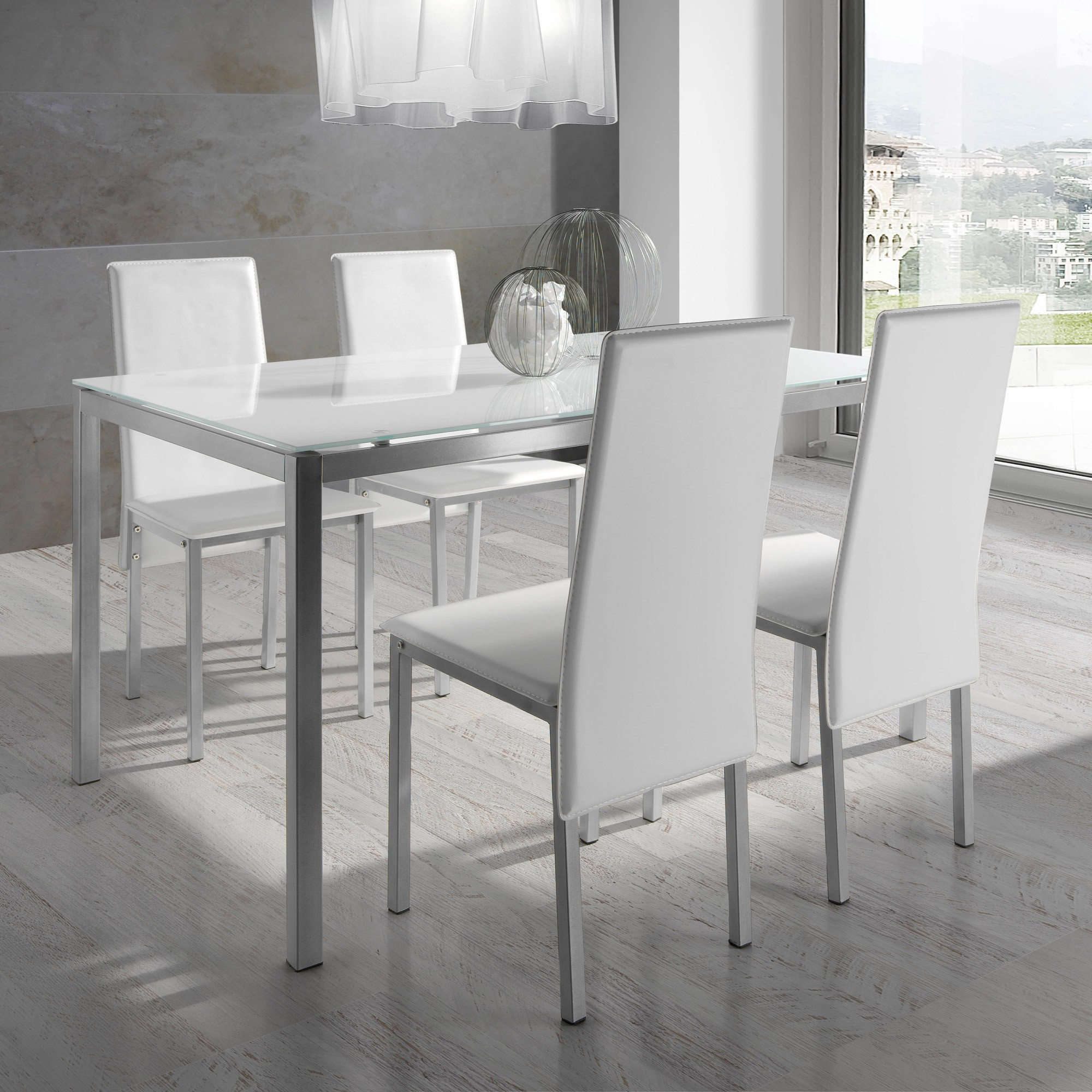 Ensemble table et chaise salle a manger but chaise for Salle a manger chaise blanche