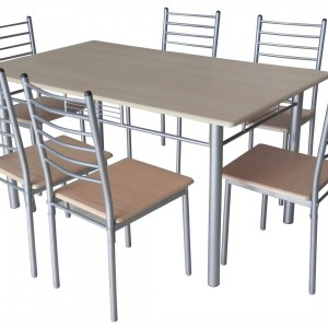 Table et chaises de cuisine contemporaine chaise id es for Ensemble table et chaise de cuisine blanc
