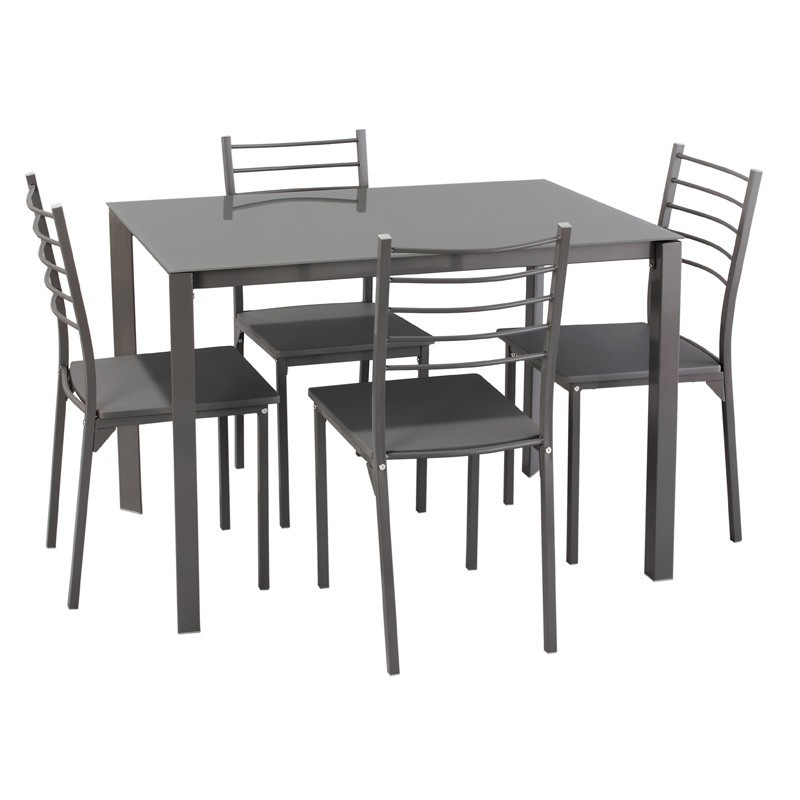 Ensemble table et chaises de cuisine pas cher chaise for Ensemble table chaise design