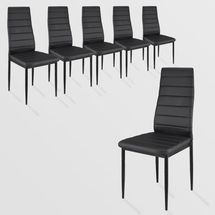 lot 6 chaises moderne pas cher chaise id es de. Black Bedroom Furniture Sets. Home Design Ideas