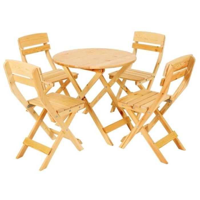 Table Pliante Avec 4 Chaises Intégrées