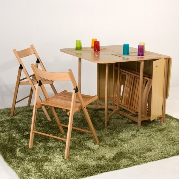 Table pliante avec chaises int gr es conforama chaise for Table pliante avec rangement chaise
