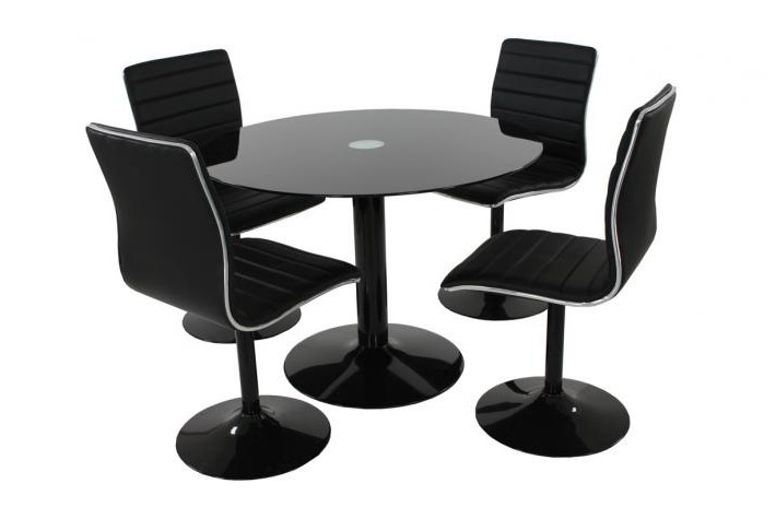 Table ronde et chaises maison design for Table 4 chaises pas cher