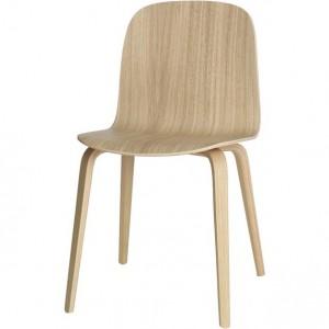 Chaise moderne blanc et bois chaise id es de - Chaise en bois blanc ...