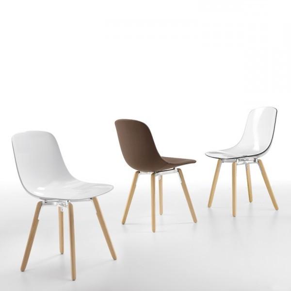 Chaise Plastique Blanc Et Bois