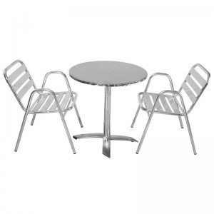 Chaise bistrot alu chaise id es de d coration de - Table bistrot rectangulaire aluminium ...