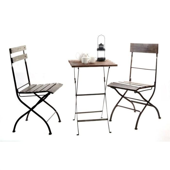 Table Et Chaise Bistrot De Jardin
