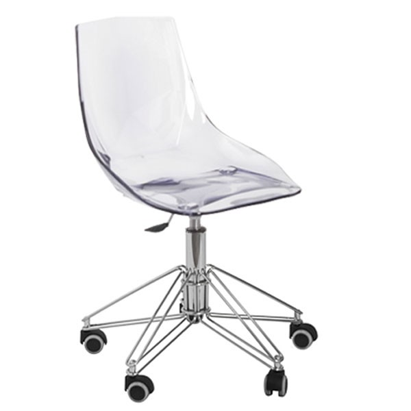 Chaise bureau transparente fly chaise id es de for Conforama chaise transparente