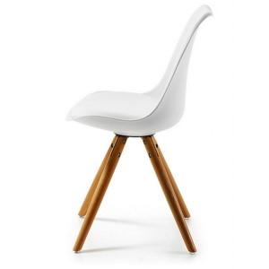Chaise plastique et pied bois chaise id es de for Chaise pied bois assise plastique