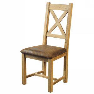 Chaise En Chene Blanchi