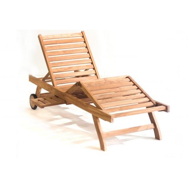 Chaise Longue En Teck De Jardin