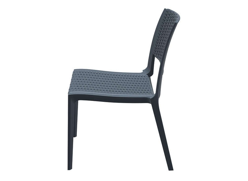 Chaise Resine Tressee Gris