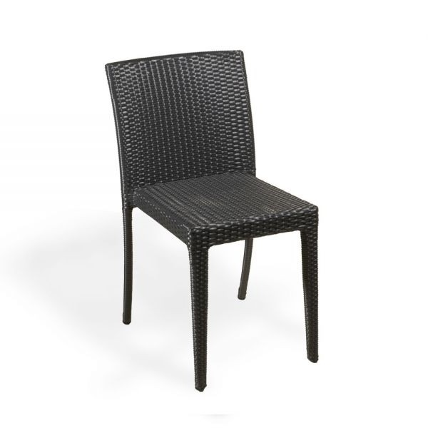 Chaise Resine Tressee Noire