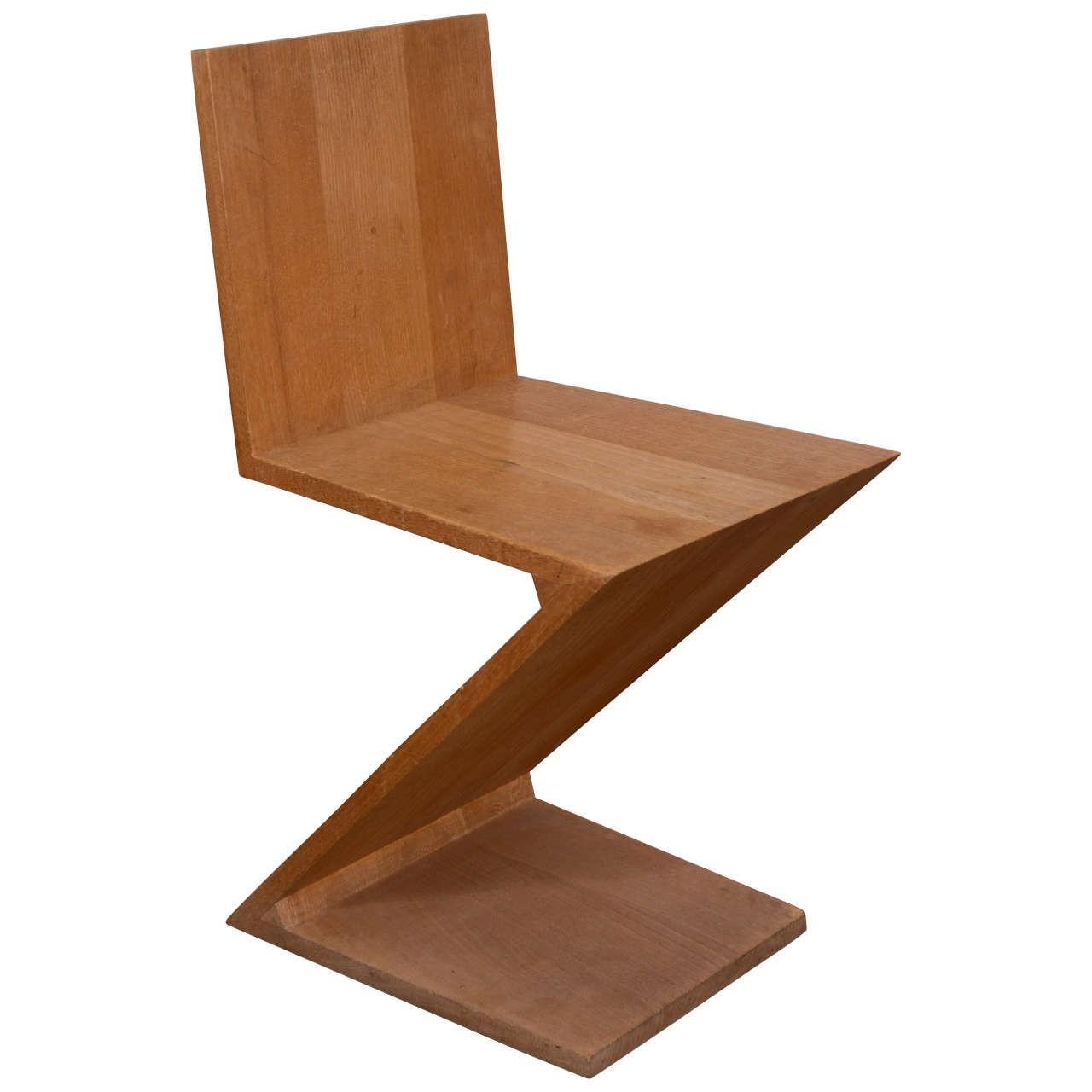 Chaise Zigzag De Gerrit Rietveld