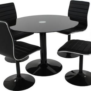 Ensemble table ronde et chaises de cuisine cuisine for Ensemble table ronde et chaise de cuisine