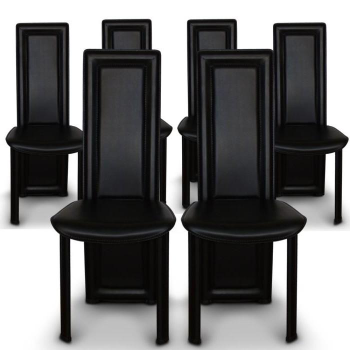 6 Chaise De Salle A Manger Noir