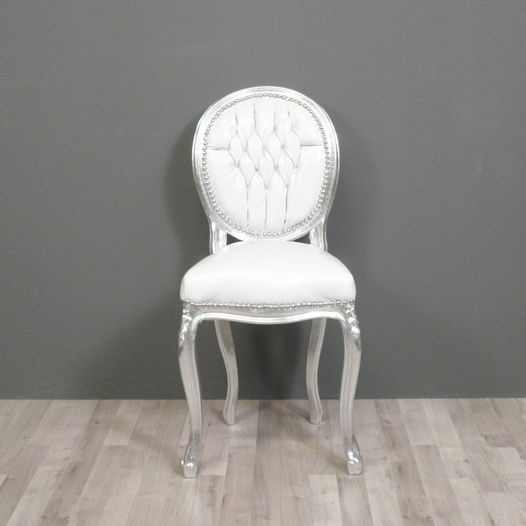 Chaise Blanc Style Baroque