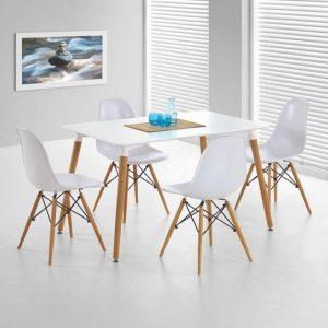 Chaise pour salle a manger en bois chaise id es de d coration de maison - Chaise salle a manger blanc ...