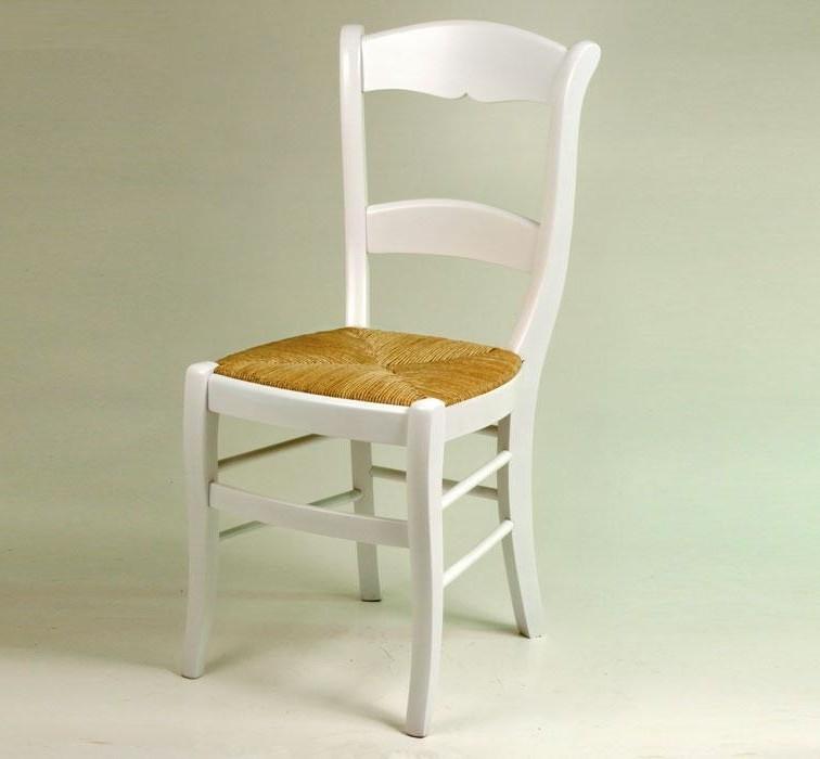 Chaise De Cuisine Blanc En Bois