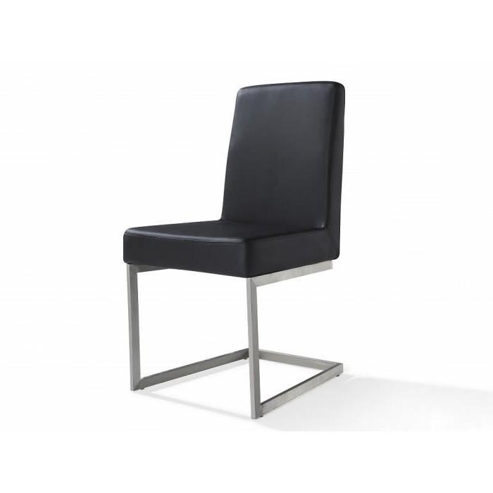 Chaise De Salle A Manger Cuir Noir