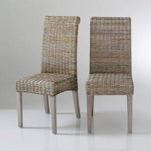 Chaise en kubu tress chaise id es de d coration de - Chaise kubu gris ...