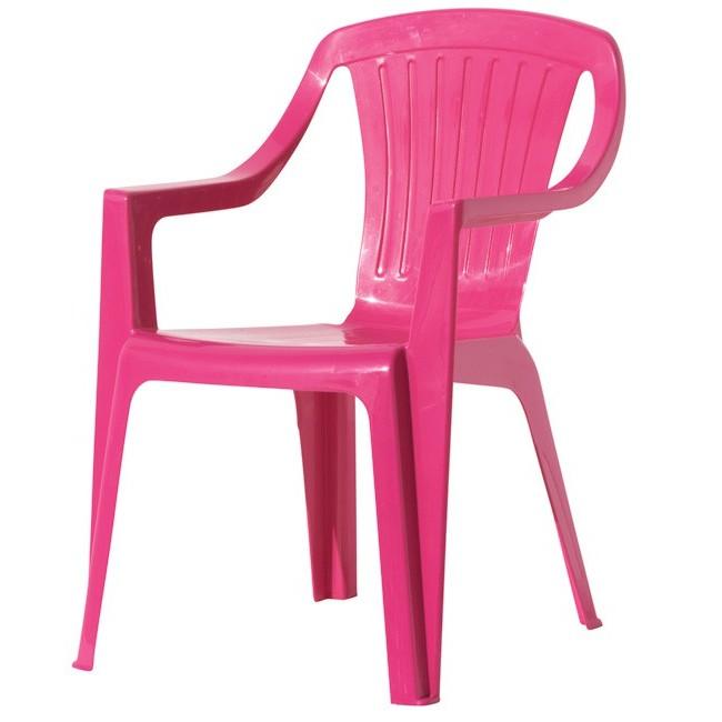 Chaise En Plastique De Couleur Pour Jardin