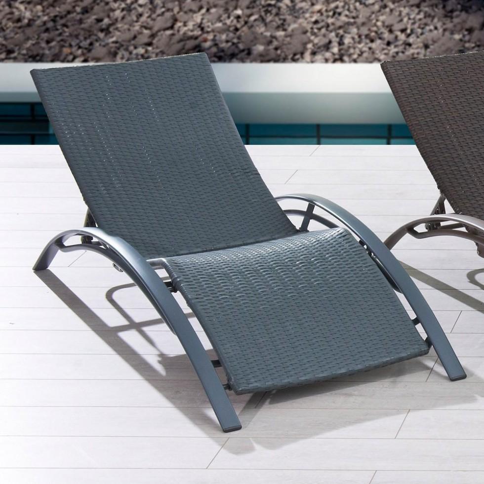Chaise longue r sine tress e chocolat chaise id es de d coration de maison 9odoppnbey - Chaise longue resine tressee ...