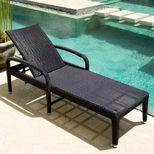 Chaise longue resine tressee gris chaise id es de - Chaise longue resine tressee ...