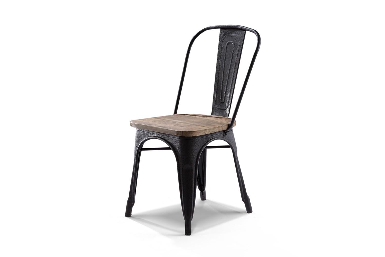 chaise m tal et bois chaise id es de d coration de. Black Bedroom Furniture Sets. Home Design Ideas