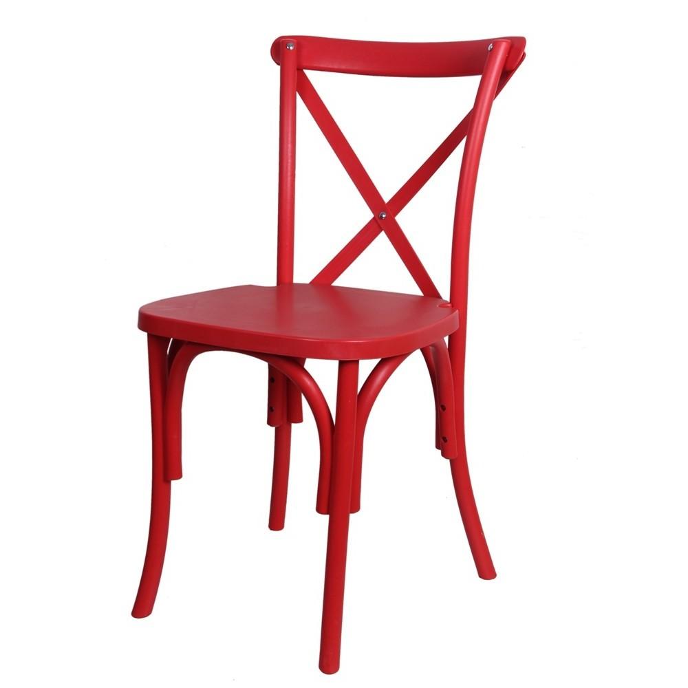 Chaise Mange Debout Rouge