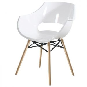 Chaise Moderne Blanc Et Bois