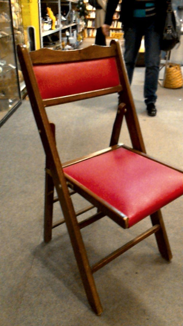 Chaise Pliante Bois Rouge