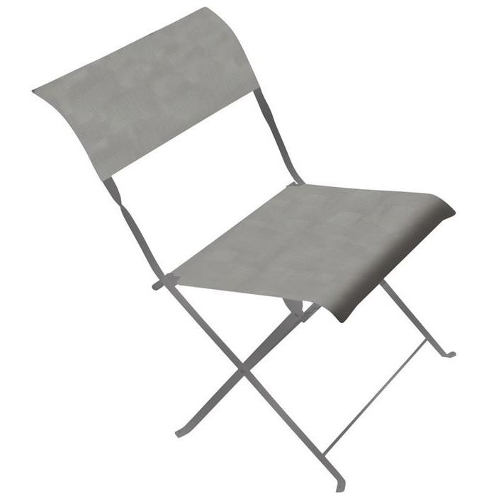 Chaise Pliante Metal Gris