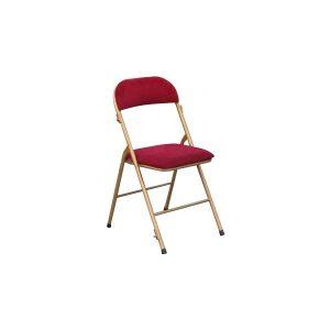 Chaise Pliante Velours Rouge