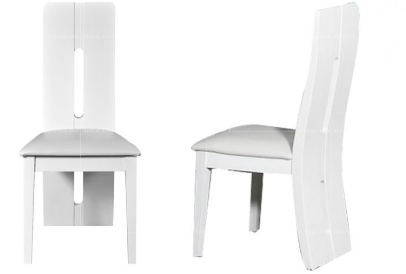 Chaise salle a manger blanc maison design for Salle a manger laque