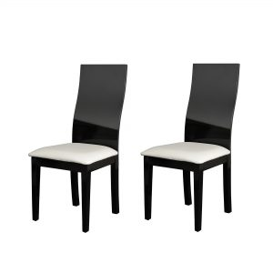 Chaise Salle A Manger Noir Et Blanc