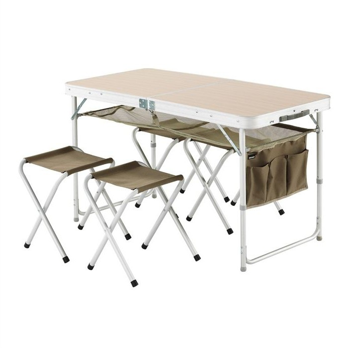 Table bois avec chaises integrees - Table pliante avec chaises integrees ...