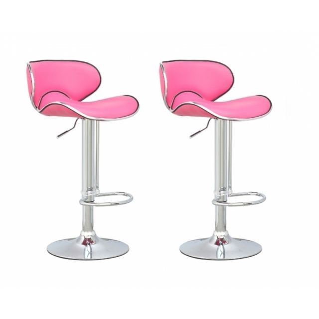Chaise De Bar Rose Fushia