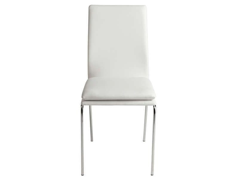 Chaise design blanc conforama chaise id es de for Chaise design conforama