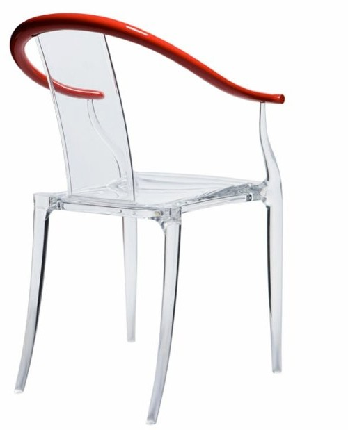 Chaise design transparente starck chaise id es de for Chaise transparente conforama