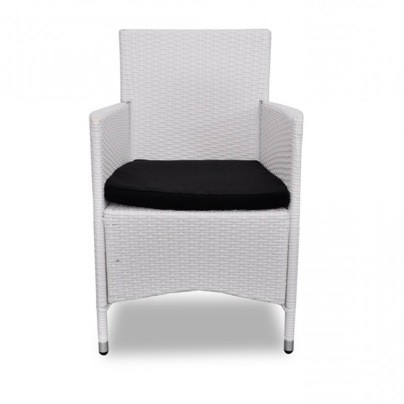 Chaise En Resine Tressee Blanc