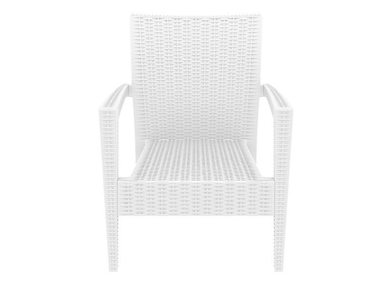 Chaise En Resine Tressee Blanche