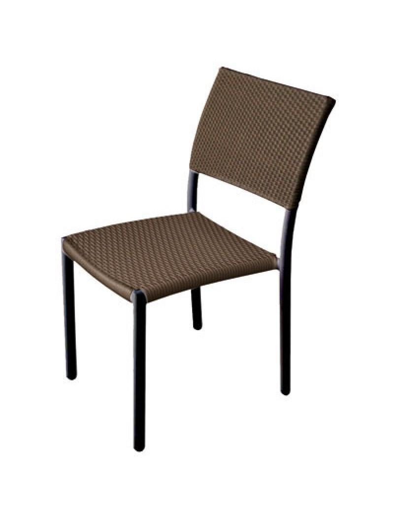Chaise En Resine Tressee Marron
