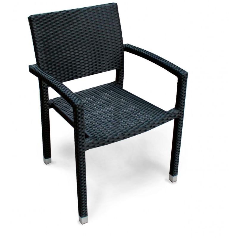 Chaise En Resine Tressee Noire