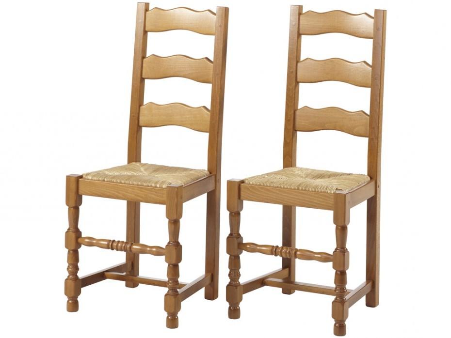 Chaise Hêtre Massif Avec Assise Paille