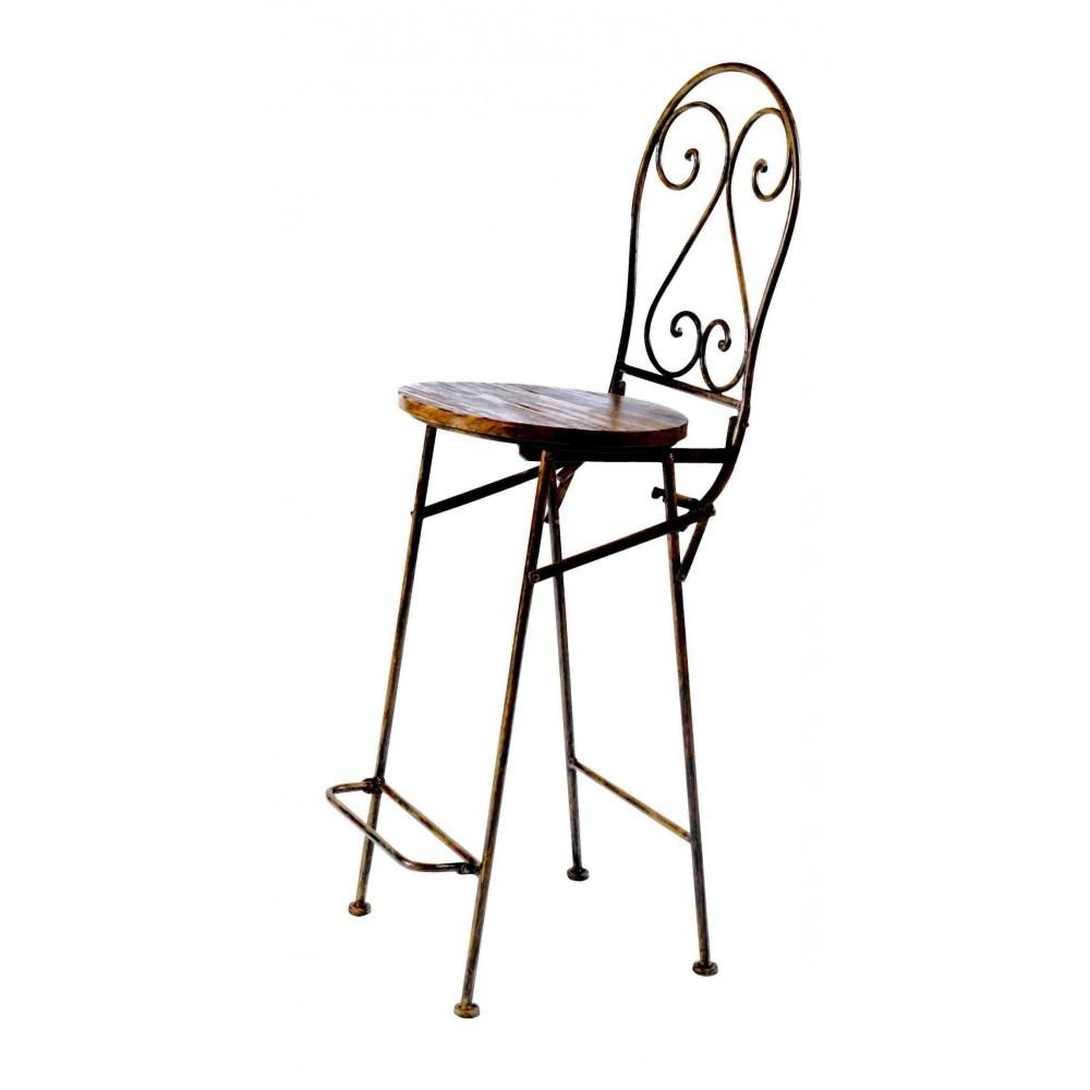 Chaise haute de bar fer forge chaise id es de - Chaise de bar haute ...