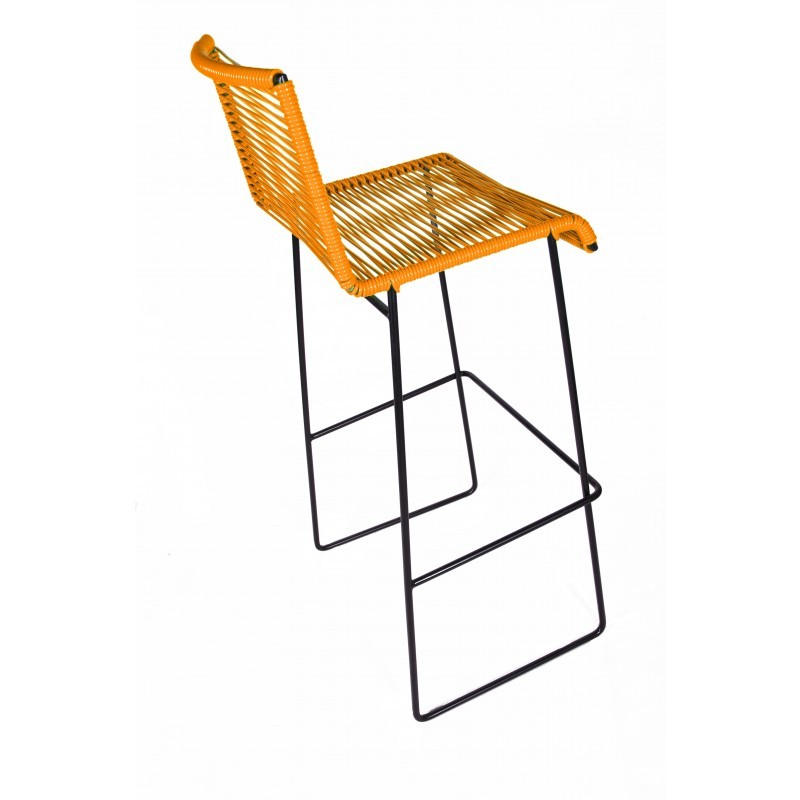 Chaise Haute De Bar Orange