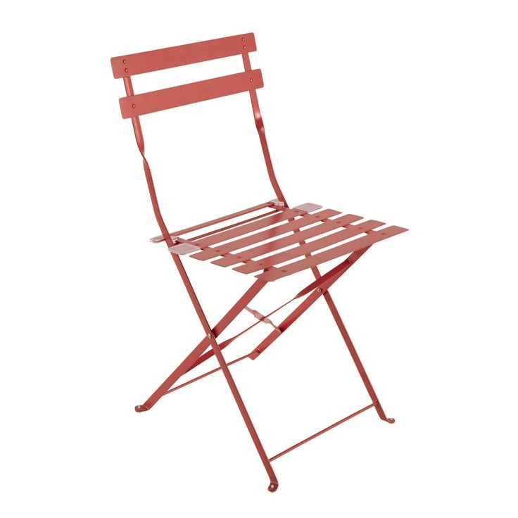 Chaise Jardin Metal Rouge